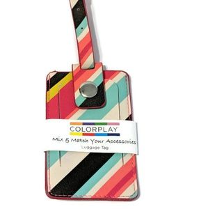 Colorplay Luggage Tag Case Vertical Stripes ID
